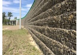 Сооружение подпорных стен с помощью габионов