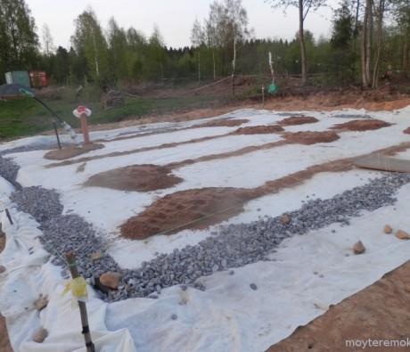 Геотекстиль под фундамент, шир. 6*4 м.п