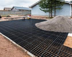 Газонная решетка Гео Газон черная 50мм