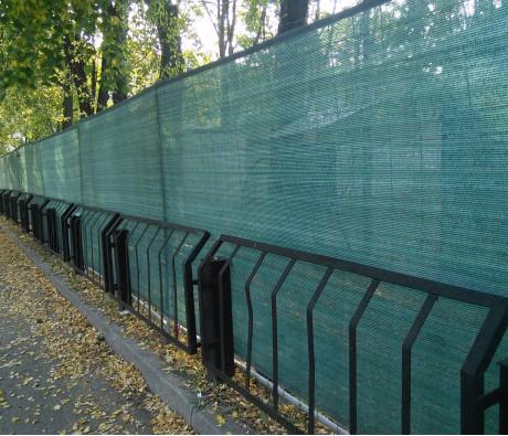 Фасадная сетка (затеняющая), шир. 4х100 м.п, зеленая, 35 гр